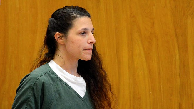 Niya Sosa-Martinez at her sentencing Wednesday, July 22 for the October 2014 death of her son. Sosa-Martinez, who pleaded guilty to manslaughter last month, was sentenced to 132 months, or 11 years, in prison.