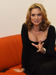 Actress and Dutchess County resident Hilarie Burton discusses Ghost Stories before the event at the Richard B. Fisher Center for the Performing Arts at Bard College.
