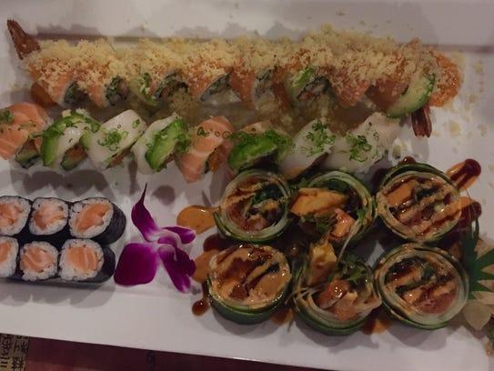The sushi tastes very fresh at Sakura Japanese restaurant,
