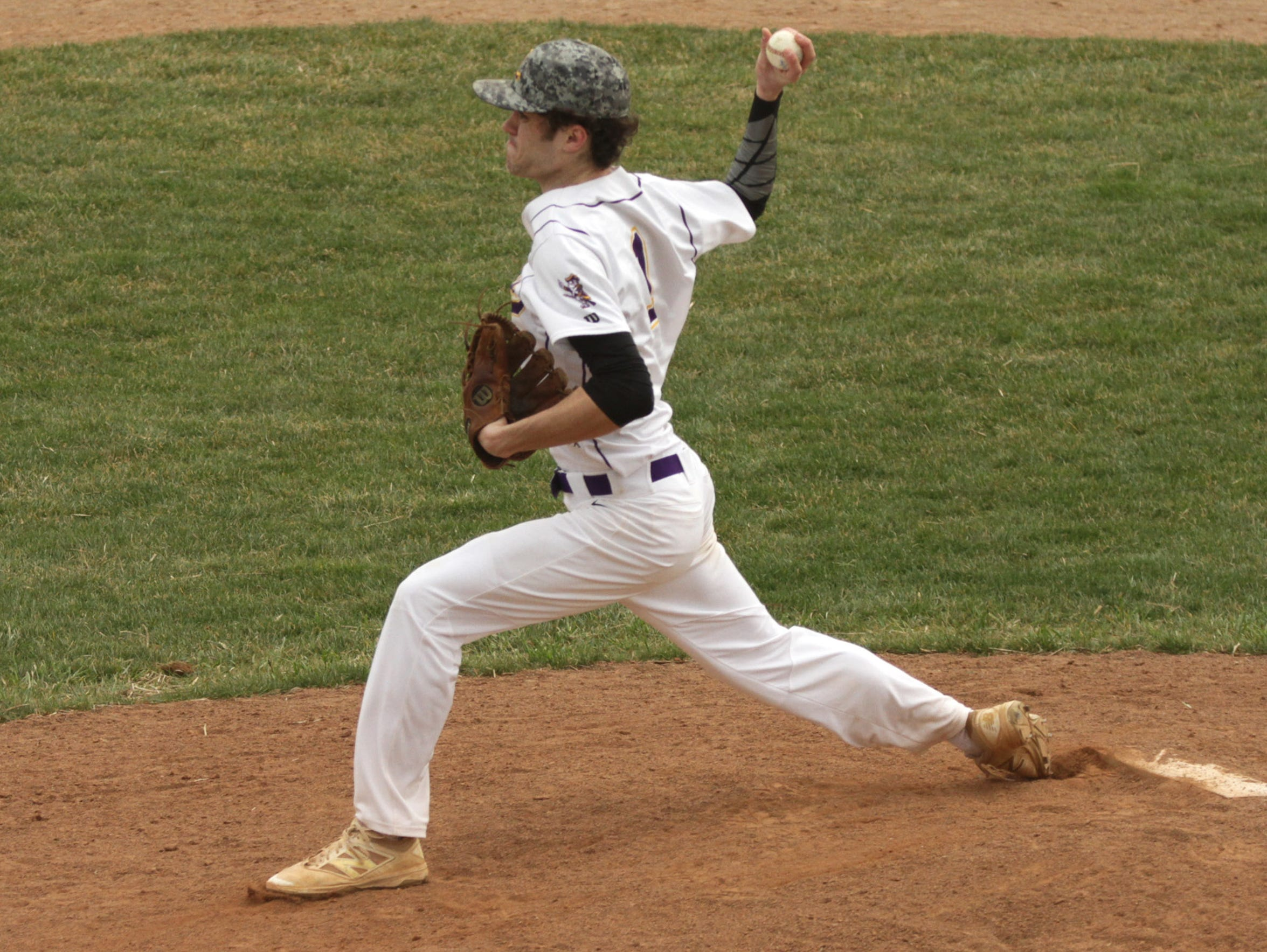 Lexington's Jake Depperschmidt pitches a home game