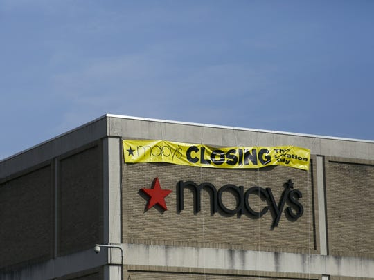A Macy's in Springfield, Ohio, shows a closing sign