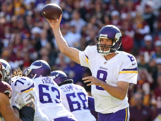 Vikings quarterback Sam Bradford and a makeshift offensive line will do battle with the Cardinals' strong outside pass rush on Sunday.