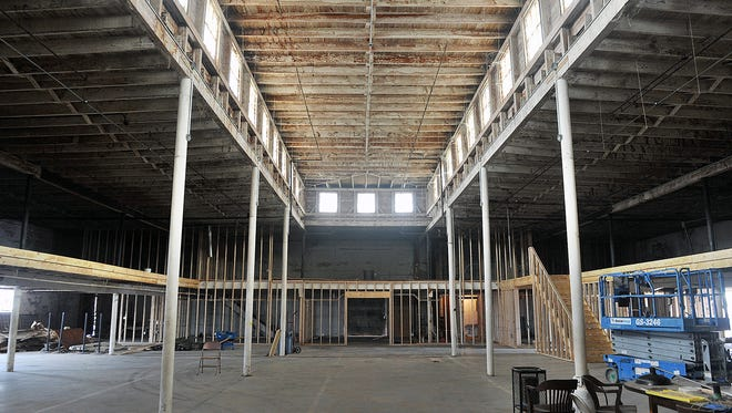 Renovation work continues on the P2 Warehouse at 14th Street and Lamar. The 15,000 square foot building will be a venue for events with space for 50 up to 1,100 people.