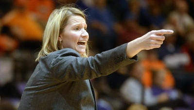 Lady Techsters coach Brooke Stoehr will lead her team against LSU Friday night in Ruston.