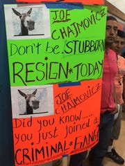 Parents at the Aug. 23 East Ramapo school board meeting