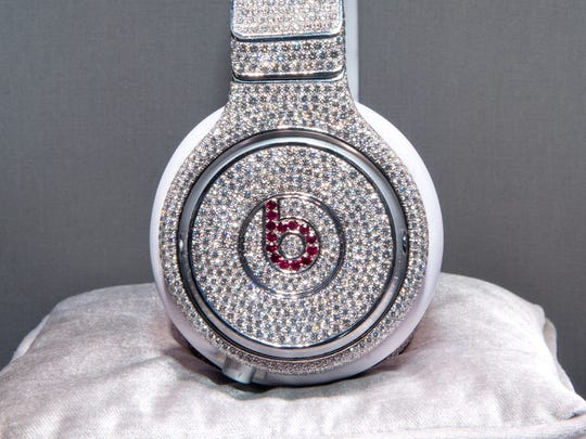 The Million Dollar Headphones by Beats by Dr. Dre & GRAFF Diamonds on January 31, 2014 in New York City.