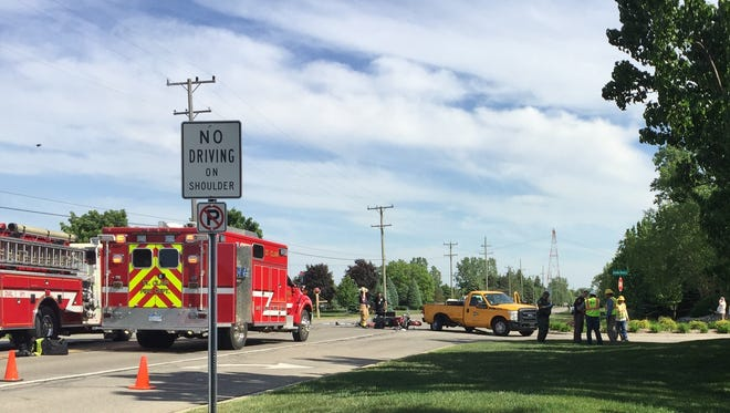 A woman was killed Thursday in a motorcycle crash on M-29.