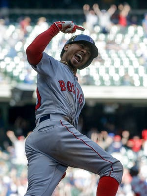 Mookie Betts 3 Run Homer In 9th Sends Red Sox Past Brewers