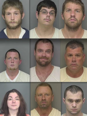 Top row, from left: Dakota Allbright, Jeffrey Carpenter and Ryan Hall. Middle: James Bianco, Eric Pethers and David Branham. Bottom: Teai Thede, Charles Helm and Hunter Ogden.
