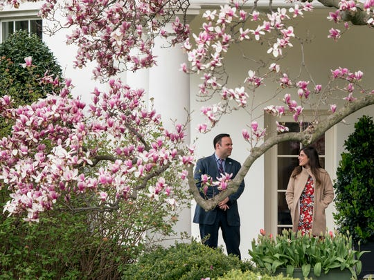 White House Director of Social Media Dan Scavino, left,