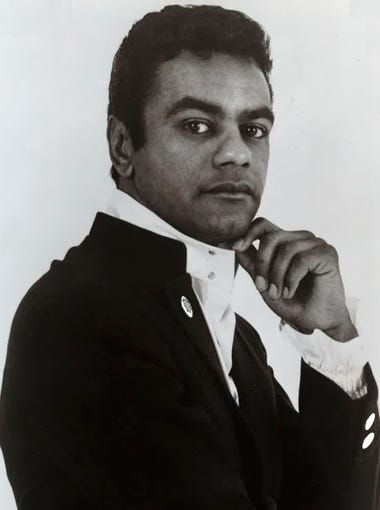 A promotional image of Johnny Mathis from the late '60s.