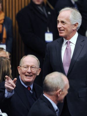U.S. Sens. Lamar Alexander, left, and Bob Corker both criticized President Donald Trump after a Washington Post report revealed the president provided classified information to high-ranking Russian officials.