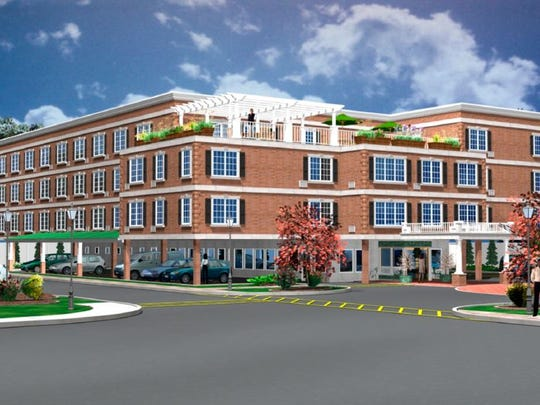 A rendering of an affordable housing development in Rye