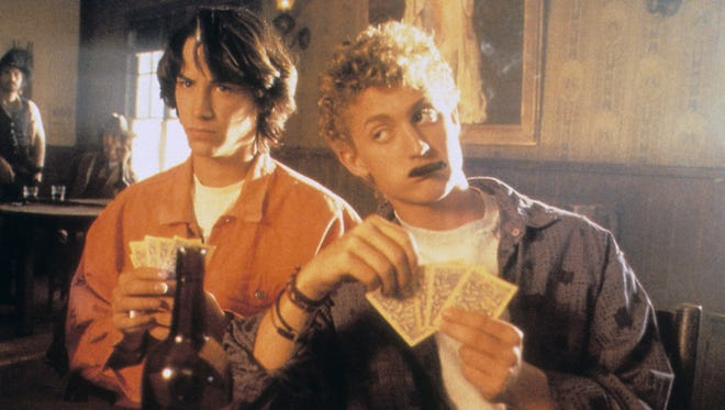 """Keanu Reeves and Alex Winter in 1989's """"Bill and Ted's Excellent Adventure."""""""