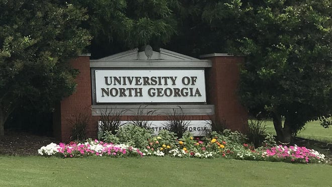 The entrance to the University of North Georgia campus in Oconee County.