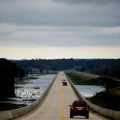 The La. 154 bridge over Lake Bistineau in Bossier Parish