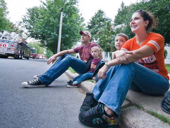 Parade-goers enjoy a past DVFA Parade in Dover.