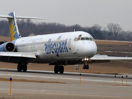 Allegiant Air offers flights from Des Moines to several