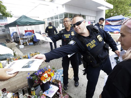 ICE protest Portland