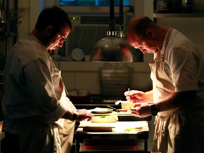 Aaron Patin (left) and the chef and owner of Ardent,