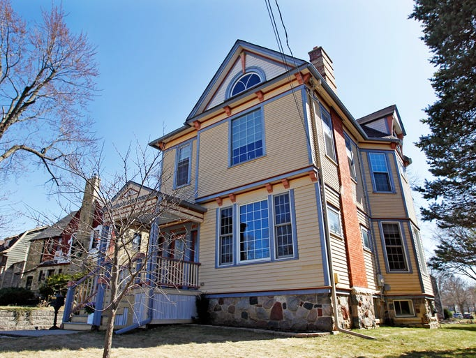 The two-story Queen Anne style home has 3,200 square