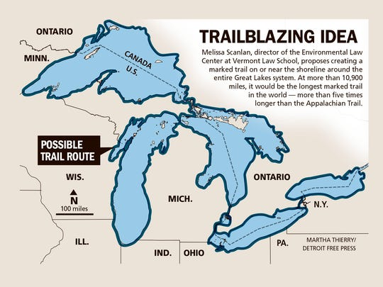 World S Longest Marked Trail Proposed Around Great Lakes