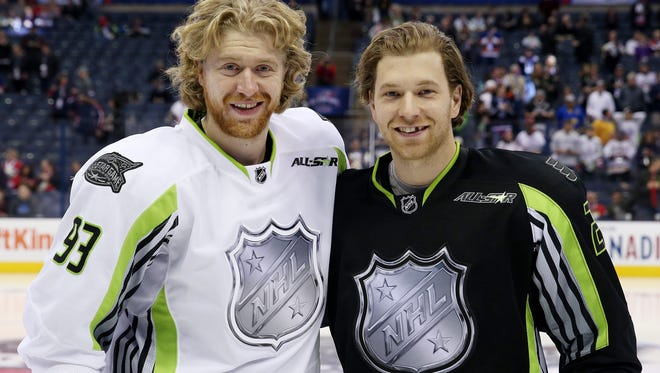Jake Voracek and Claude Giroux, both All-Stars, have been split up.