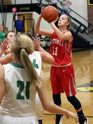 Westfall girls basketball lost their leading scorer in Emily Robinson from last season, but they return their leading rebounder in Marcy Dudgeon.