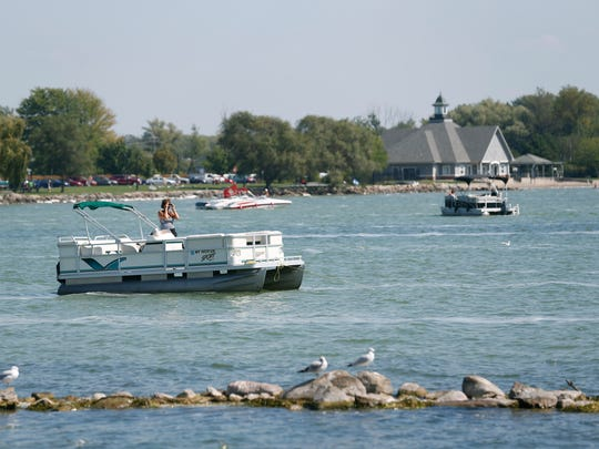Boaters enjoy a beautiful day at Canandaigua Lake.