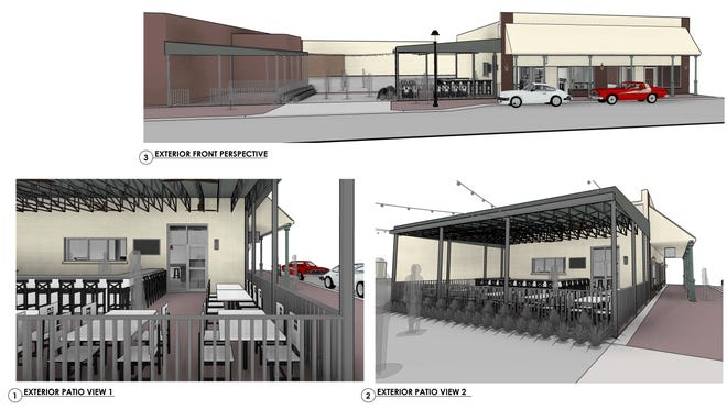 Renderings of P'cola Pie Bar.