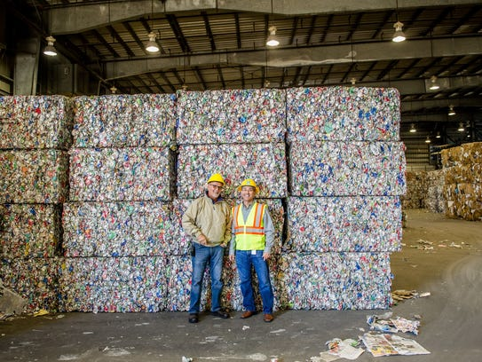 Aluminum can bales ready for market