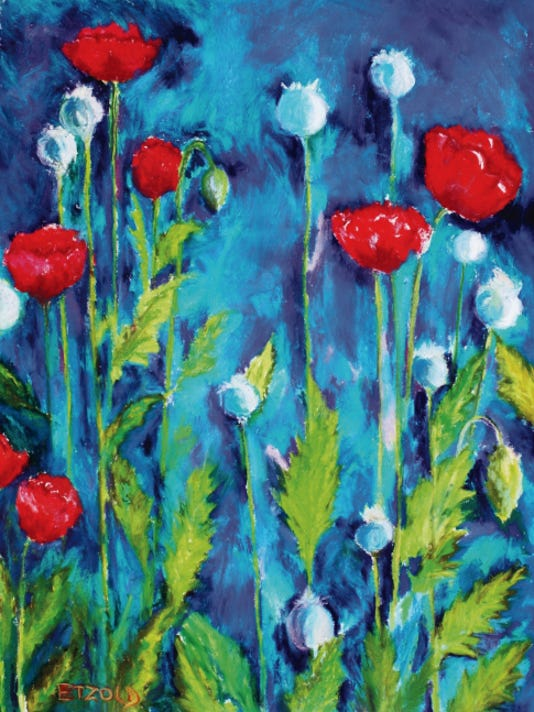 """Poppies"" by Melinda Etzold."