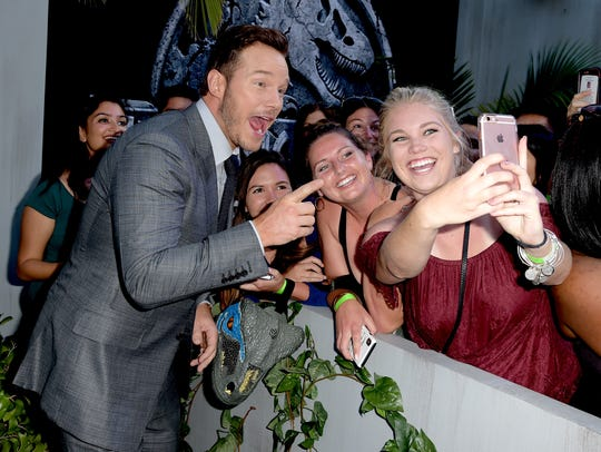 Where do we line up for a selfie with Chris Pratt?