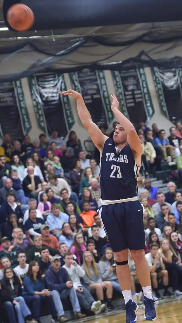 Chambersburg's John Shupp has missed the last three games with an injury, and although he isn't a big point scorer for the Trojans, he is sorely missed.