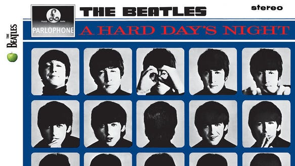 """The Beatles' third album, """"A Hard Day's Night,"""" was"""
