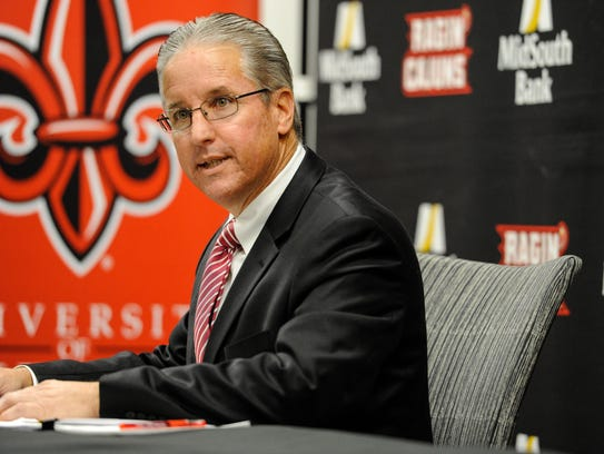 UL athletic director Scott Farmer, shown earlier this
