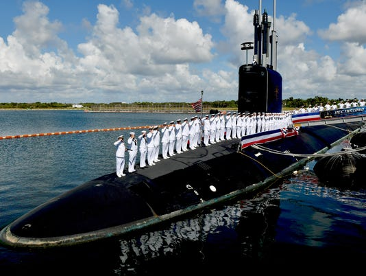 Commissioning of the USS Indiana submarine