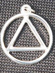 Circle and triangle is the symbol of Alcoholics Anonymous