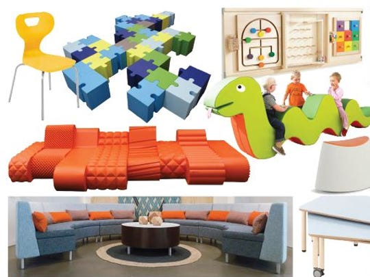 The furniture to be used in the redesigned kids area at the Montgomery City/County Public Library' Juliette Hampton Morgan branch.