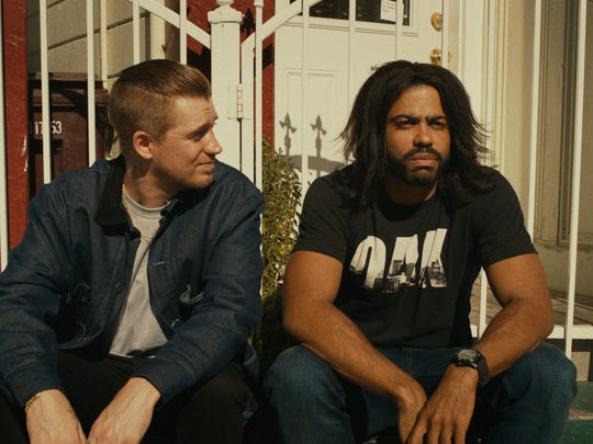 "Miles (Rafael Casal, left) and Collin (Daveed Diggs) are friends in ""Blindspotting."""