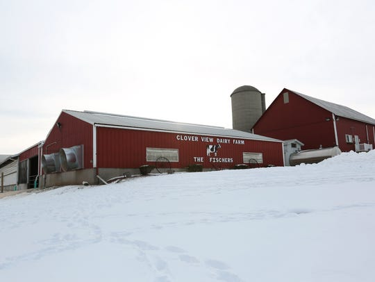 Clover View Dairy Farm owners Steve and Kim Fischer