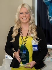 Inspira Health Network recently recognized nurse Ashley