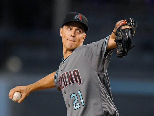 Zack Greinke threw seven innings of one-run ball on