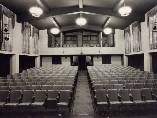 A 1979 photo shows the inside of the house at Mansfield
