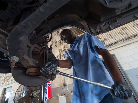 Brandon DeVose, a mechanic with the City of Cape Coral,