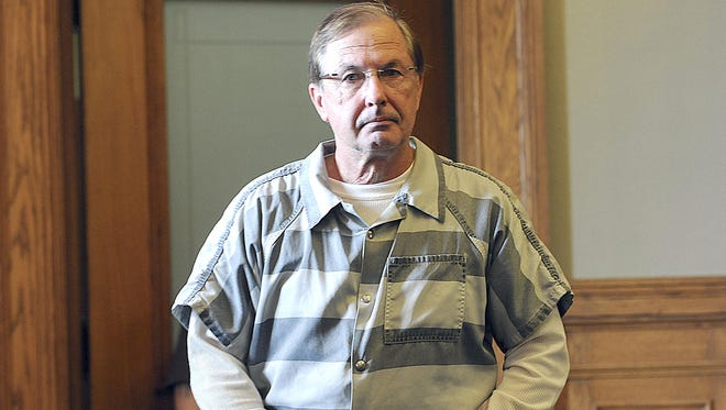 Wendell Racette enters the Ingham County Circuit Court in Mason in 2012 for sentencing. The Ingham County Prosecuting Attorney's Office will appeal a recent ruling that granted Racette a new trial.