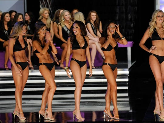 Miss America contestants in 2010.
