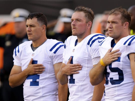 Along with Adam Vinatieri (4) and punter Pat McAfee (1), Overton helped form one of the top kicking units in football.