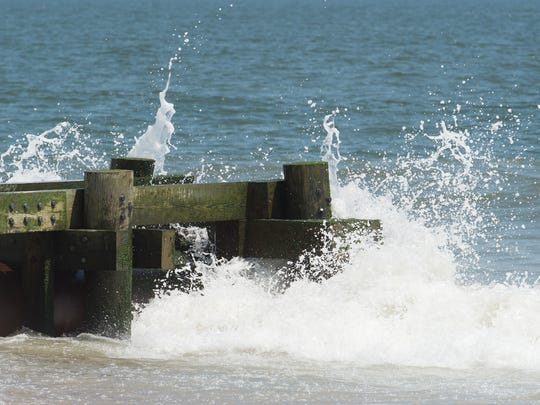 View of the stormwater outfall near Maryland Avenue in Rehoboth Beach.