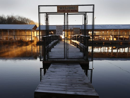 Fellows Lake Marina is a popular spot to rent boats,